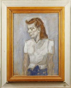 Kvinna I Vit Blus by Kalle HEDBERG