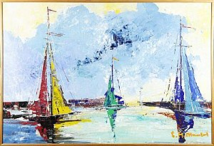 Segelbåtar by Helmut MANTEL