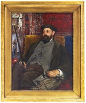 Porträtt Föreställande Konstnären Axel Borg by Ernst JOSEPHSON
