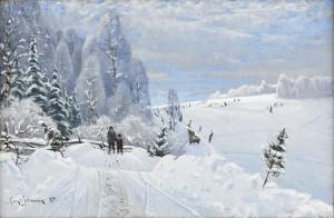 Vinterlandskap by Carl JOHANSSON