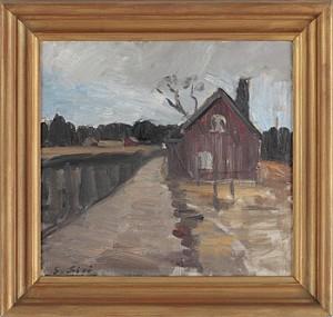 Landskap Med Stuga by Gustav SJÖÖ