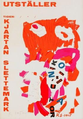Utställningsaffisch by Kjartan SLETTEMARK