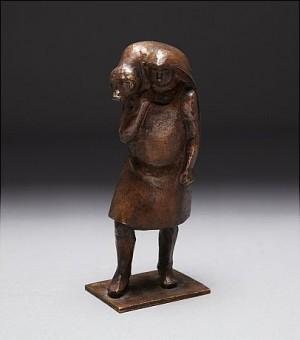 Skulptur, Man Med Gris by Eric ELFWÉN