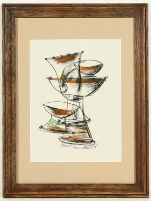 Cups And Saucers by Konrad CRAMER