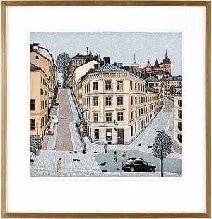 (2) Motiv Från Södermalm Resp Vy över Kornhamnstorg Från Slussen by Sven-Olof EHRÉN