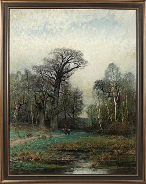 Landskap Med Mor Och Son by Johan 'John' KINDBORG