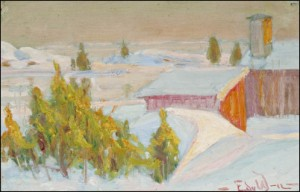Talvimaisema by Edvard WESTMAN