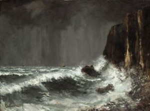 La Falaise by Gustave COURBET
