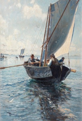 Fiskare I Båt by Johan KROUTHÉN