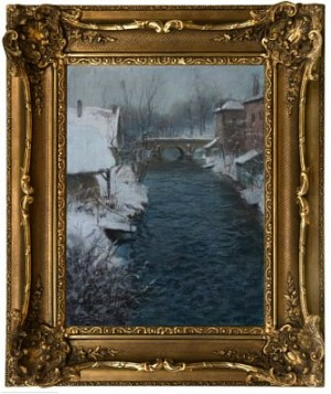 Vinter I Normandie by Frits THAULOW