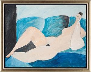 Motiv Av Avklädd Kvinna by Carl Eric BODÉN