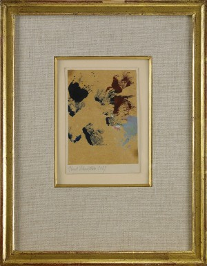 Untitled (spatters Of Paint). Verso Marked Prel. Oeuvre-no., 1927, 439. by Kurt SCHWITTERS