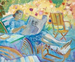 Läsande Kvinna by Isaac GRÜNEWALD