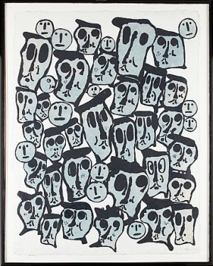 Crowds by Donald BAECHLER