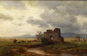 Ruine An Fluss by Eduard Friedrich PAPE