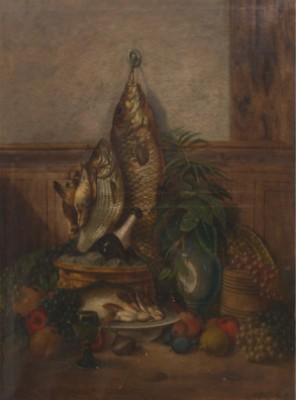Still Life With Fish And Game by Joseph Jacob BURGARITZKY