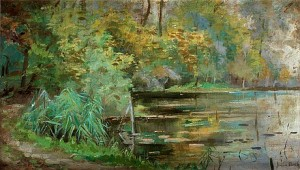 Träd Vid Flodbank. by Julia BECK