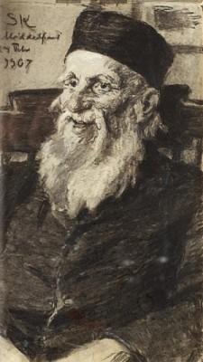 Porträtt Av En Gammal Man På Middelfart Mentalsjukhus by Peder Severin KRØYER