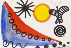 Composition Avec Soleil Et Papillon by Alexander CALDER