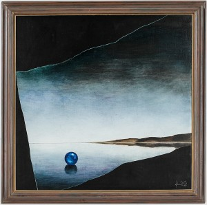 Komposition Med Boll I Landskap by Johannes OLSSON