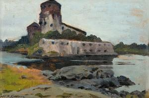 Castle Of St. Olaf (olavinlinna) by Feodor Feodorovich BUCHHOLZ