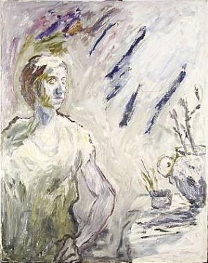 Kvinna I Ateljé by Evert LUNDQUIST