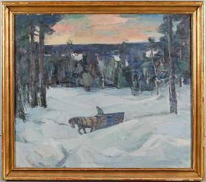Vinterafton, Småländska Höglandet by Hugo CARLBERG