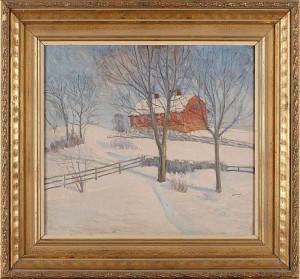 Vinterlandskap by Aron GERLE