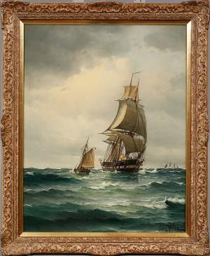 Skepp På öppet by Vilhelm Victor BILLE
