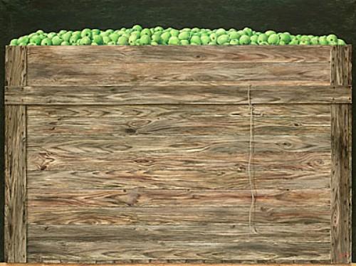 Låda Med Gröna äpplen by Philip Von SCHANTZ