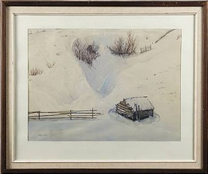 Vinterlandskap by Gunnar WIDFORSS