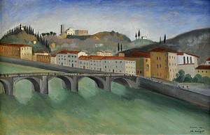 Vid Arno, Florens by Albert KRÜGER