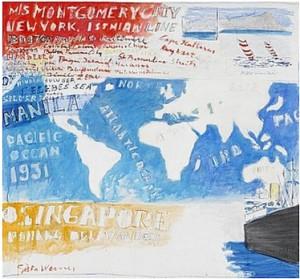 Världskarta by Gösta WERNER