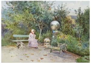 Fransk Trädgårdsinteriör by Anna GARDELL-ERICSON
