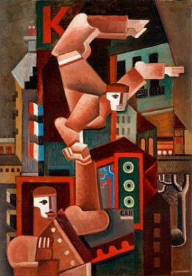 Akrobater I Paris by Gösta 'Gan' ADRIAN-NILSSON