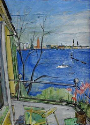 Utsikt Från Sjövillans Balkong, Smedsudden - Stockholm by Fritiof SCHÜLDT