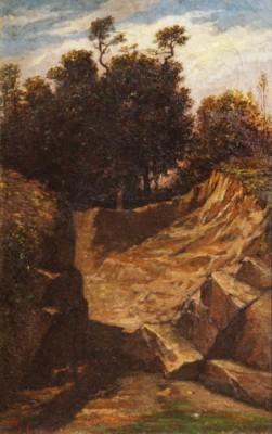 Barbizon Landscape by Gustave COURBET