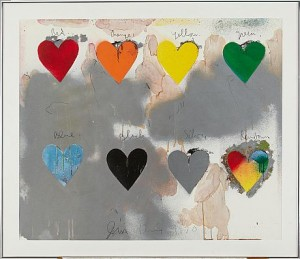 8 Hearts by Jim DINE
