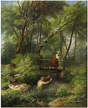 En Nutidens Näck by Josef Wilhelm WALLANDER