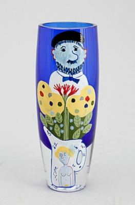Motiv Av Konstnär, Vas, Glas, Skruf by Sven LIDBERG