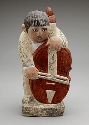 Cellospelande Man by Sven LUNDQVIST