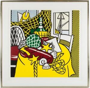 Still Life With Lobster by Roy LICHTENSTEIN