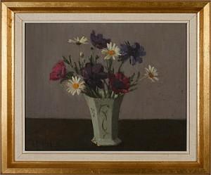 Vas Med Anemoner Och Prästkragar by Leopold MORSING