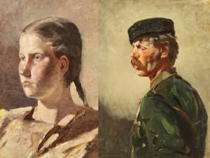 A Pair Of Paintings by Rudolf Feodorovich FRENTZ