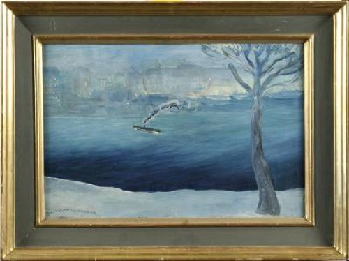 Vy över Stockholm by Gustaf Adolf Engelbert 'Bertel' BERTEL-NORDSTRÖM