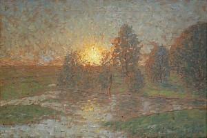 Solnedgång över Triberga Träsk by Per EKSTRÖM