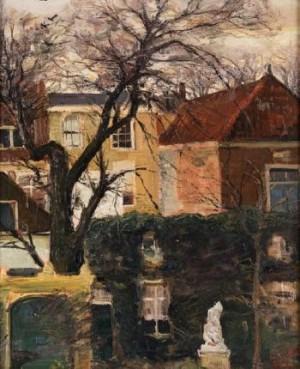 Blick In Einen Hinterhof (gezicht Op De Achterkanted Van Huizen) by Louis APOL