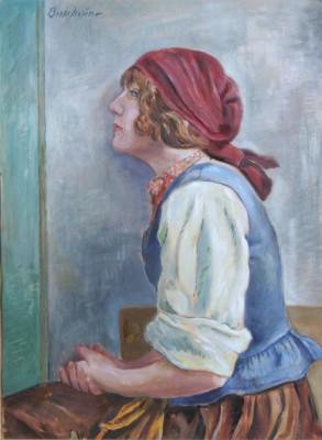 Ung Kvinna I Profil by Bertil NORÉN