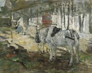 Cheval Normand by Eugène Louis BOUDIN