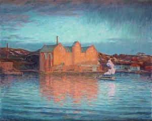 Saltsjökvarn, Vårafton 1907 by Prins EUGEN